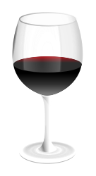 red wine glass by GMcGlinn - wine glass with some tastie red wine in it.