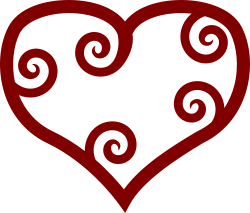 Valentine Red Maori Heart by pixabella - Valentine Red Maori Heart