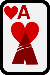 Ace of Hearts by momoko - Ace of hearts from a funky card deck