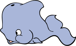cute whale by johnny_automatic - a cute cartoon whale from a U.S. patent drawing