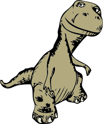 dinosaur by johnny_automatic - a cartoon dinosaur from a U.S. patent drawing