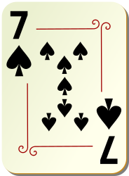 Ornamental deck: 7 of spades by nicubunu - playing card from the
