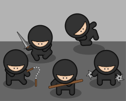 Studiofibonacci cartoon ninjas