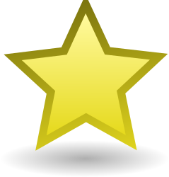 Star by Anonymous - A stylized star by Andrew Fitzsimon. Etiquette Icon set. From 0.18 OCAL database.