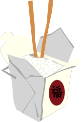 Chinese Take Out Box by oosabs - Chinese take out box with rice & chopsticks