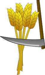 farm by egore911 - cartoon, cartoon, clip art, clipart, colour, colour, crop, crop, farm, farm, food, food, harvest, harvest, image, media, public domain, scythe, scythe, svg, tool, tool, wheat, wheat,