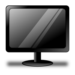 Black Monitor by ronoaldo - A simple black LCD monitor.