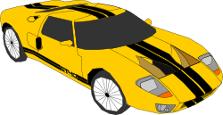yellow car by Machovka - Yellow sports car.
