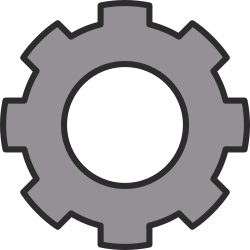 Cog, cogwheel, gear, Zahnrad by qubodup - cog made as an icon for http://freegamedev.net but not used