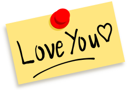 Thumbtack note Love you by zeimusu - Thumbtack note with message