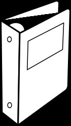 Clipart cartable anneaux binder - Clipart cartable ...