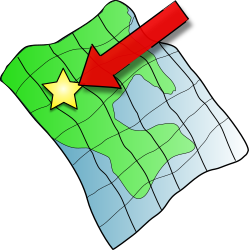 Ruffled Map by midkiffaries - This is a simple generic map with a ruffled look to it, and an arrow pointing to a location.