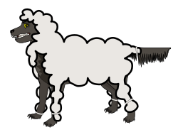 Wolf in Sheep's Clothing by jonadab - Watch out for false teachers. They come to you in sheep's clothing, but inwardly they are ferocious wolves.