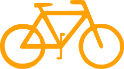 Bicycle Sign Symbol by lunanaut - Stylized silhouette of a bicycle.