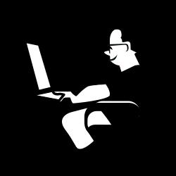 Personnage_ordinateur by Antoine - Personnage ordinateur computer laptop people work travail