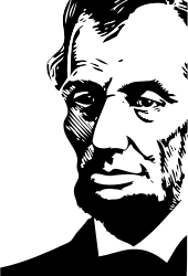 Abraham Lincoln by FunDraw_dot_com - Portrait of Abraham Lincoln, extracted from a WPA (Work Projects Administration) theatrical poster found in the Library of Congress Prints and Photographs Online catalog.