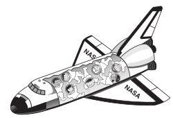 58294main_The.Brain.in.Space-page-20-space-shuttle by rejon - This is clipart converted and broken apart that has been released into the public domain because the document says so, and its from NASA, a USA government agency. The publication is called