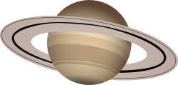 Saturn by J_Alves - The planet Saturn, drawn in Inkscape.