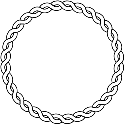 rope border circle by pitr - Simple plaited/braided frame. The file contains the element used to make frame (off the page).