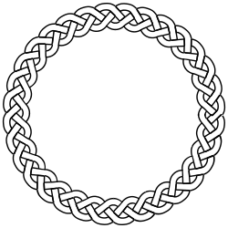 3-plait border circle by pitr - Simple plaited/braided frame. The file contains the element used to make frame (off the page).