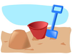 sandcastle 2 by addon - sandcastle, bucket and spade