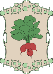 Garden Sign Radish by Gerald_G - My idea for the 2010 spring project was to create a set of signs that could represent marker signs in someones garden as they plant the seeds. Spring is gardening time, so that's how it fits the theme.   I was unable to complete as many vegetables as I had hoped, but I can add them here in OpenClipart as time allows me to create them.