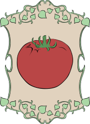 Garden Sign Tomato by Gerald_G - My idea for the 2010 spring project was to create a set of signs that could represent marker signs in someones garden as they plant the seeds. Spring is gardening time, so that's how it fits the theme.   I was unable to complete as many vegetables as I had hoped, but I can add them here in OpenClipart as time allows me to create them.