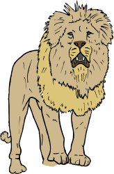 Lion by SteveLambert - Color drawing of a lion.