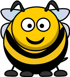 Cartoon Bee by roland81 - An honey bee remix based on the cartoon animal style by StudioFibonacci and lemmling.