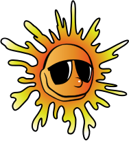 Summer Sunglasses by pianoBrad - A sun, wearing sunglasses, created for the