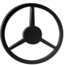 steering-wheel by netalloy - A black steering wheel.