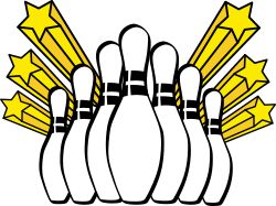 Bowling pins by shokunin - Bowling emblem for use on -Shirt, etc.