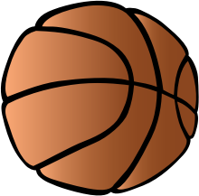 Basketball by pianoBrad - A basketball, created for the Sports 2010 Clip Art Package Release.
