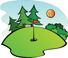 Golf Course by pianoBrad - A golf course, created for the Sports 2010 Clip Art Package Release.