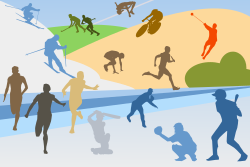 Sports by shokunin - various sport disciplines in one collage