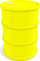 Barrel by gramzon - A yellow oil barrel in 3D.