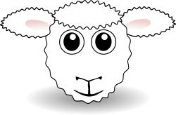 Funny Sheep Face White Cartoon by palomaironique - Funny Lamb Face White Cartoon - Dr�le de petit museau d'agneau blanc - Lustige Lamm Gesicht weiss - Musetto di Agnello divertente bianco (partially remixed from