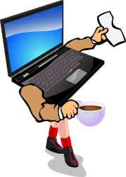 Walking Laptop by chovynz - This is a conceptual clipart for the very cool mobility