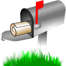 Mailbox by metalmarious - it's a mail box with red flag up, any one can use this in any way with no conditions what so ever.