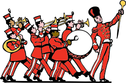 marching band by johnny_automatic - cartoon of a marching band from an old sheet music cover