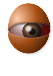 Clipart - AM Eyeball Egg, From ImagesAttr