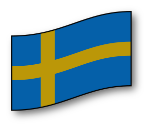 Clip art image of the Swedish flag