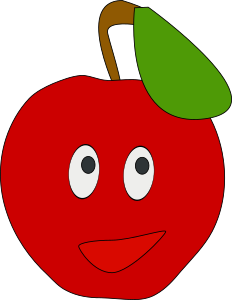 Clipart - smiling apple