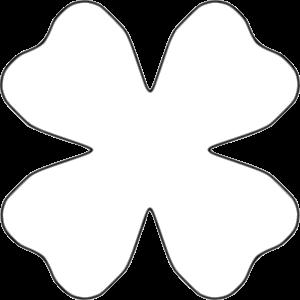 Clipart - Flower 4 Petal Heart Template