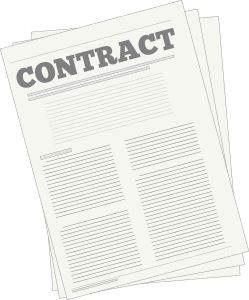Clipart of contract by Alastair