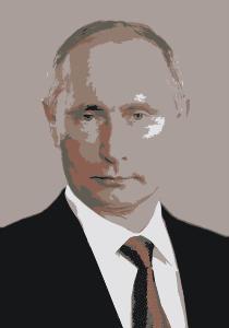 From openclipart.org/detail/193683/Vladimir-Putin-2006-by-wanglizhong: Vladimir Putin
