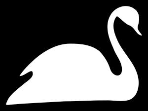 Clipart - White Swan