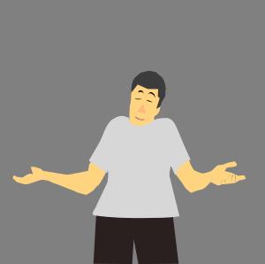 Clipart - shrug as gesture