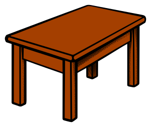 Clipart Table Coloured Rh Openclipart Org