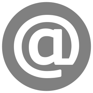 Clipart Email Icon White On Grey